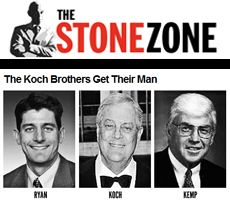 """Roger Stone, a veteran Republican political consultant, published a storylast weekon his website The Stone Zoneaccusing the billionaire Koch brothers of purchasing Paul Ryan's nomination. According to Stone, the Koch brothers secured Ryan's nominationthis July by promising to hand over an additional $100 million towards """"independent expenditure"""" for the Republican presidential campaign."""