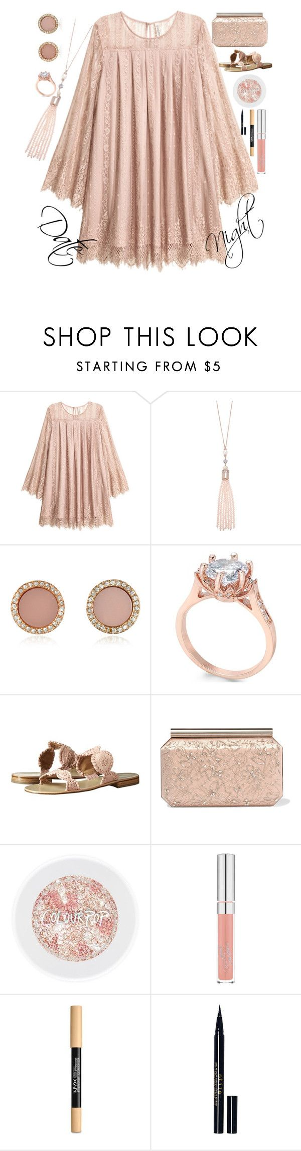 """Date Night Contest"" by bowhunter1498702 ❤ liked on Polyvore featuring Oasis, Michael Kors, Charter Club, Jack Rogers, Oscar de la Renta, NYX and Stila"