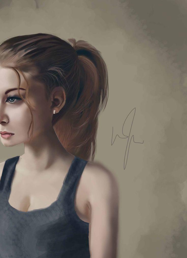 Girl Blue  Digital Painting