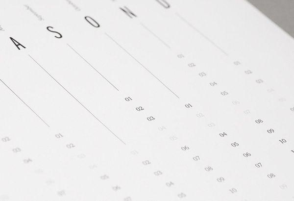 Calendar 2010 by QUSQUS , via Behance
