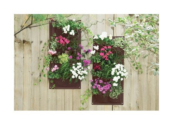 Make use of your vertical garden space with these hanging planters and create living walls or fences with herbs, greens and flowers.  Get your Verti-Plant hanging planter (2 pack) at  http://mother-gifts.net/mother-gifts