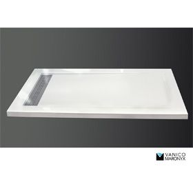Bath Emporium - low profile shower basin - 3 heights to choose and modern art deco drain