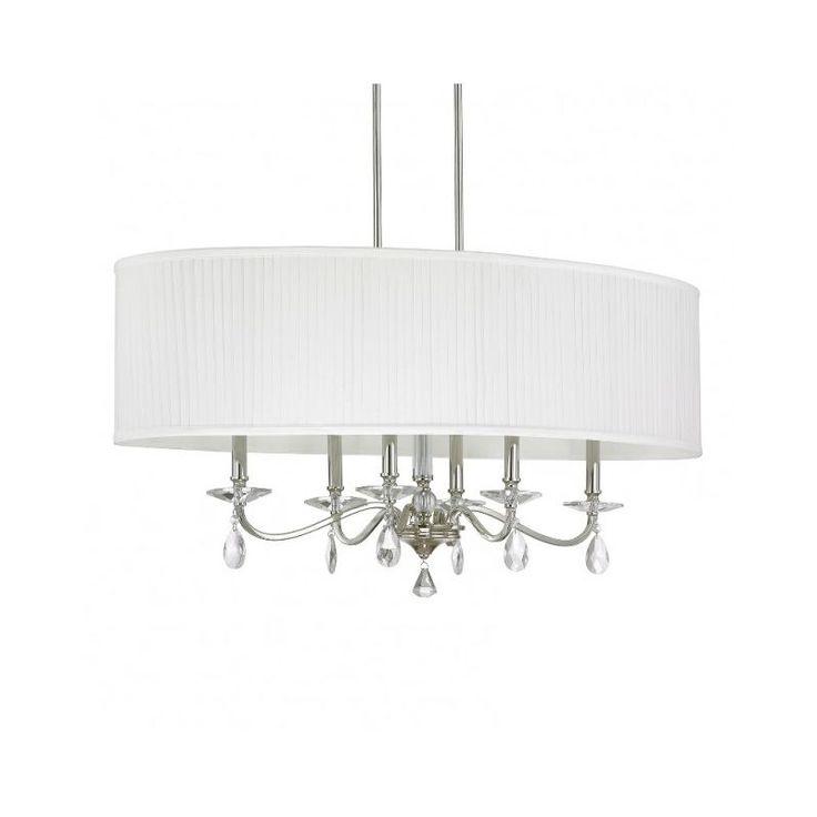 Capital Lighting 4487PN-621 Alisa 6 Light 1 Tier Linear Chandelier Polished Nickel Indoor Lighting Chandeliers Linear