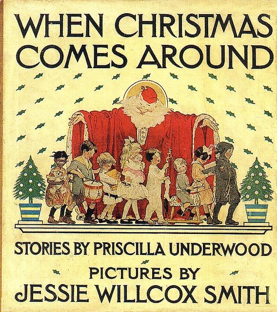 .Around Jessie Wilcox, Willcox Smith Book, Vintage Christmas, Around Jessie Willcox, Christmas Book, Wilcox Smith Book, Art Jessie, Smith Book Covers, Jessie Willcox Smith