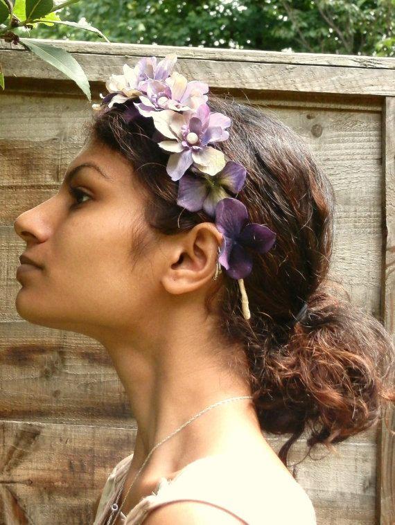 Bridal Headpiece, Flower Crown, Floral Crown, Woodland, Ivory Flower Head Wreath, Wedding Head Piece, Bridal Hair Accessories