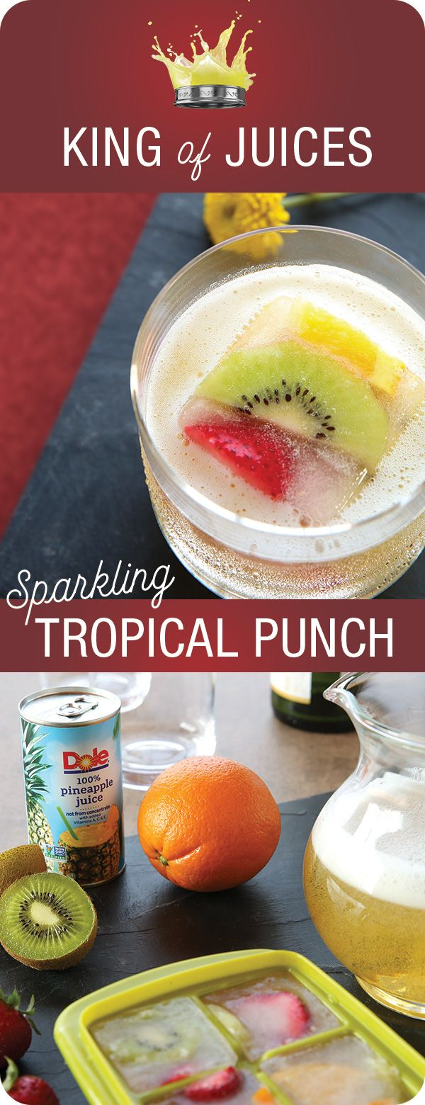 SPARKLING TROPICAL PUNCH Add a bit of bubbly delight to your holiday gathering with a mocktail refreshment that's all-ages appropriate. Making Sparkling Tropical Punch with fruit ice cubes is a fun family activity with delicious results.