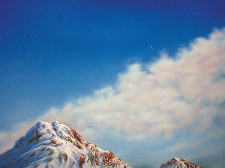 Steven Makse - Venus, Evening Star  Fine-art archival print of an original painting.  Printed on 300gsm paper - 31 x 25cm $50-