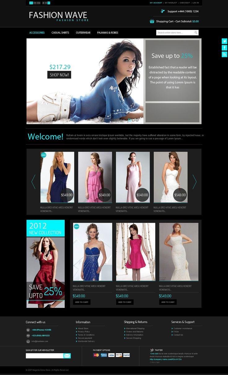 Fashion Wave - Free PSD Template