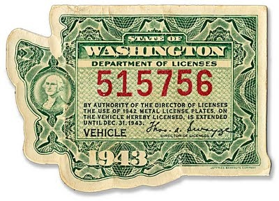 1943 department of motor vehicles license washington for Department of motor vehicles licensing