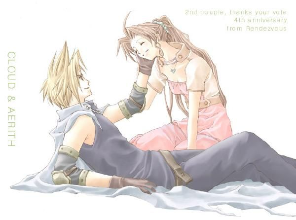 Cloud and aerith wedding bands