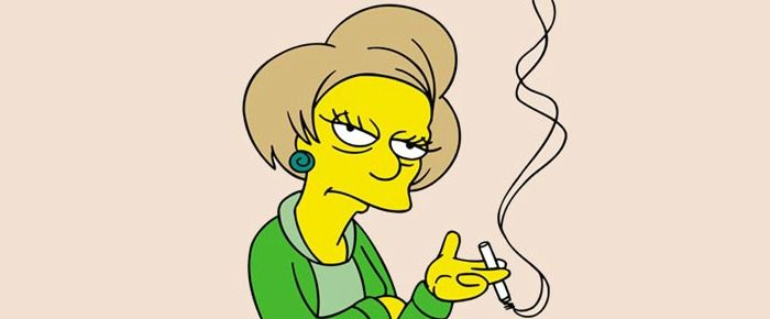 RIP Edna Krabappel of #TheSimpsons #nerds
