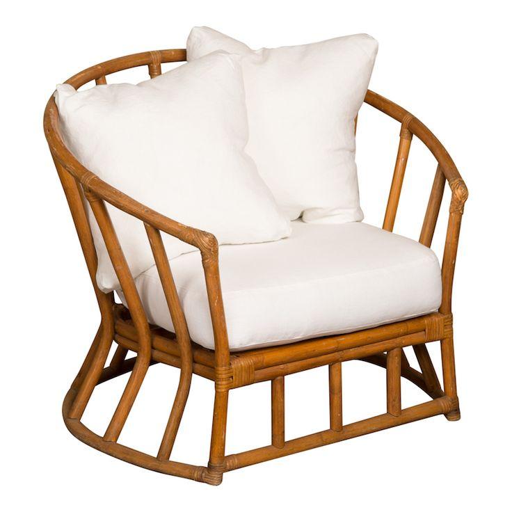 Cane rattan chairs pair at found vintage rentals rattan