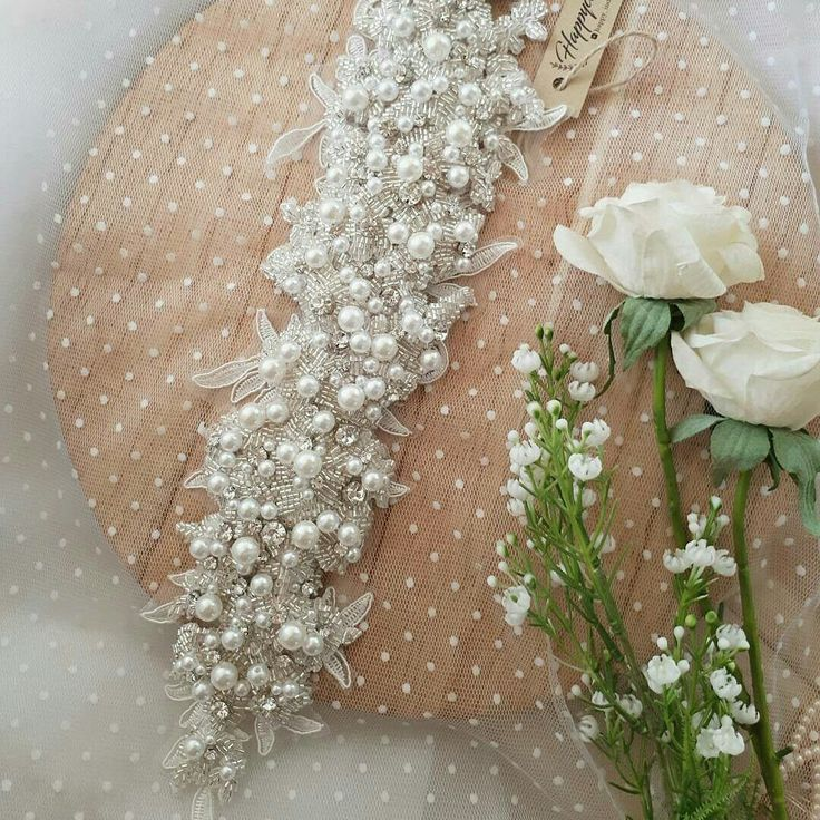 Lace headpiece Pearl headpiece