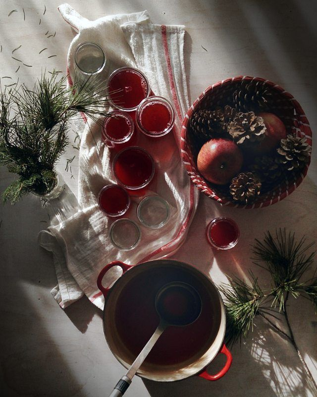 Gelatina casera de frambuesa, esta buenísima  Домашнее желе из малины, ну очень вкусно  #acozywinter para @lespetiteschosesdudimanche #jelly #gelatina #желе