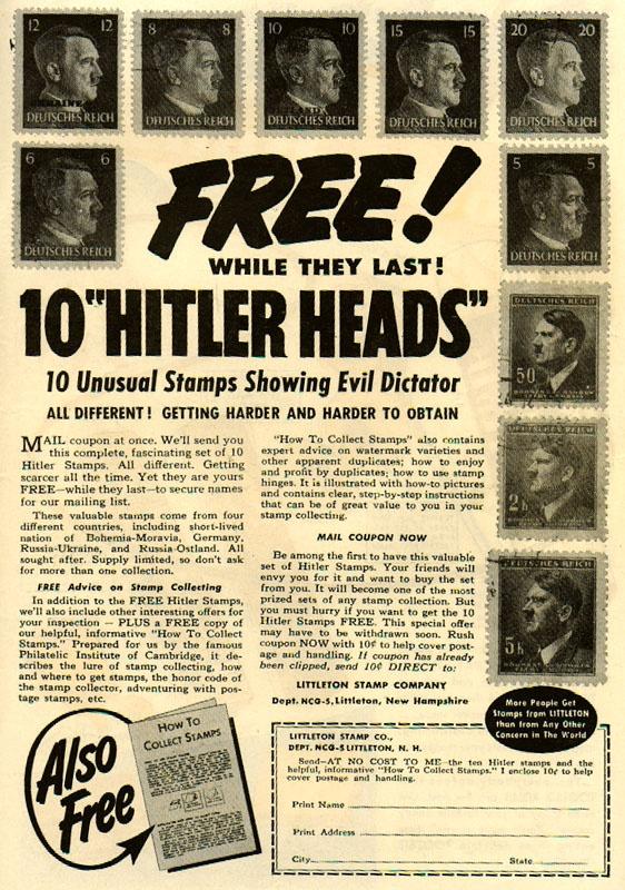 10 Hitler heads?