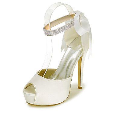 Γυναικεία+παπούτσια-Σανδάλια-Γάμος+/+Πάρτι+&+Βραδινή+Έξοδος-Τακούνι+Στιλέτο-Peep+Toe+/+Σανδάλια-Σατέν-Μαύρο+/+Μπλε+/+Ροζ+/+Μωβ+/+Κόκκινο+–+EUR+€+38.10