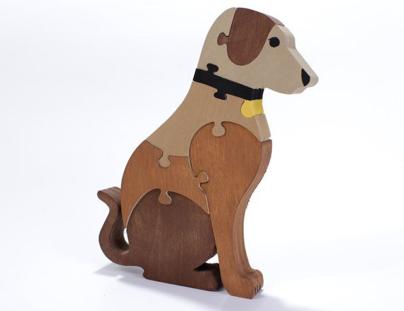 This waldorf toy of a dog will not only surround your child with quality made natural toys, but, it will also inspire their imagination, problem solving skills and motor skills.  This fun canine puzzle is a great game or room decoration for the dog lover in your family. It is made from ¾ inch thick hardwood plywood for added durability and can be ordered in any color, so, you can match your special pooch and remember him or her forever in puzzle form. If you would like a specific color…