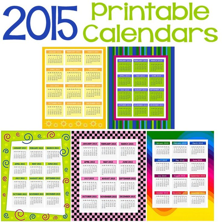 Printable Calendar With Holidays 2015