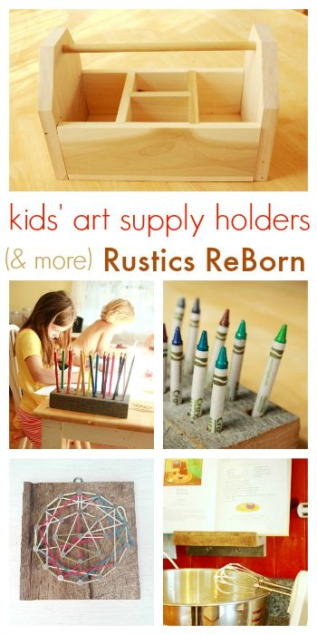 Keep kids art supplies handy and organized with art caddies and holders. Love these!