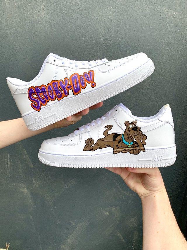 Scooby-Doo Custom AF1 White Fila