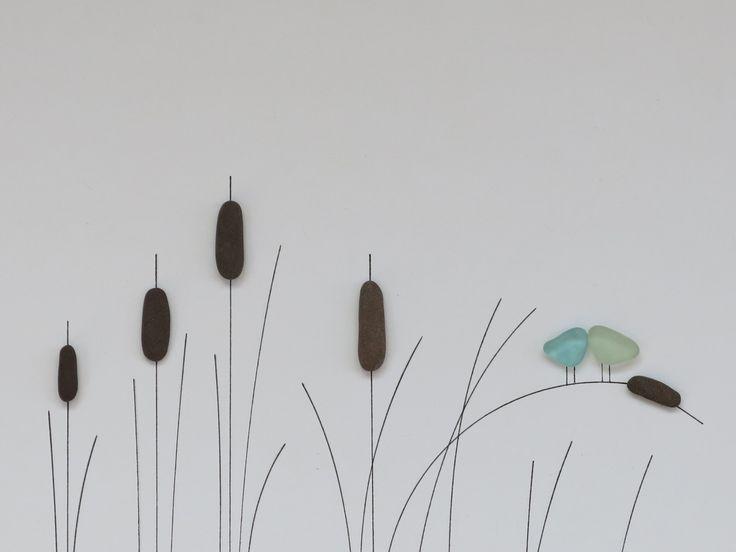 Kiesel- und Seeglaskunst vom Maine-Künstler M. McGuinness! #kiesel #kunstler #…