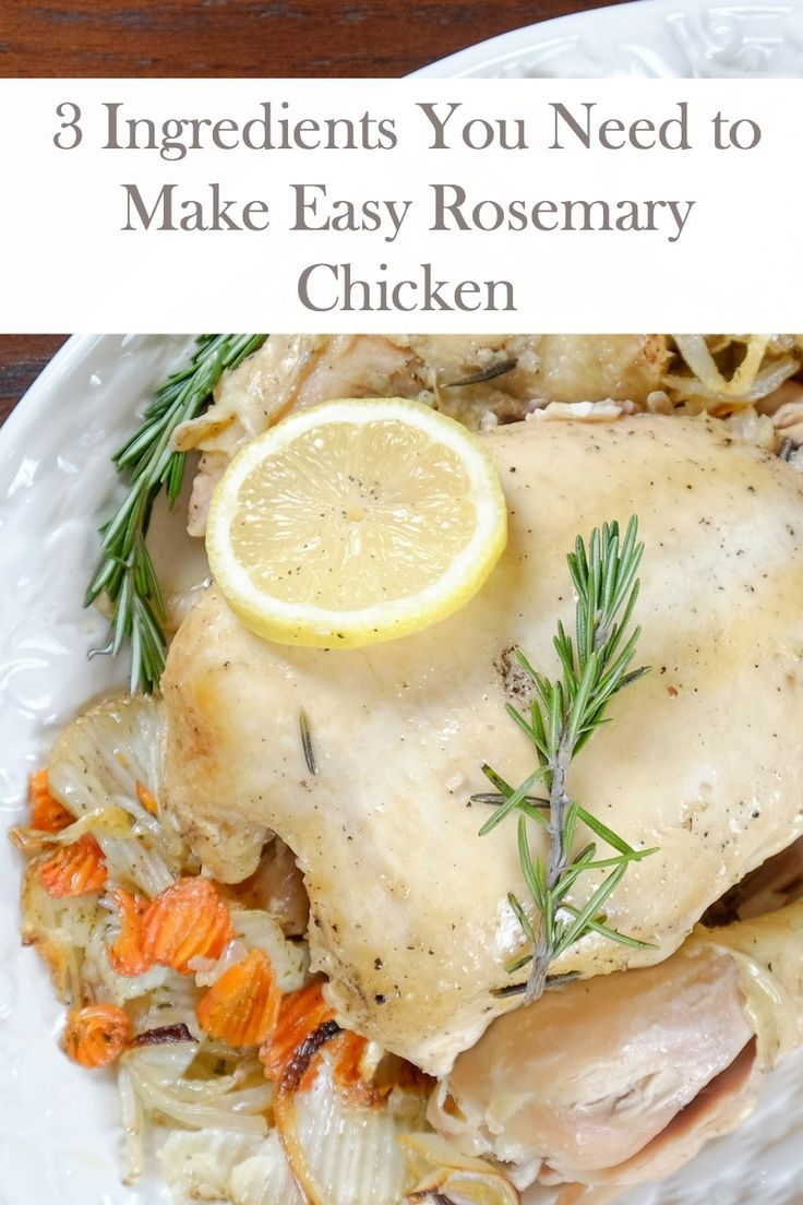 This recipe for Easy Rosemary Chicken requires 3 main ingredients that are used in everyday cooking. It's made in your slow cooker so you can have a quick and delicious meal any day of the week! http://sweetteaandsavinggraceblog.com/3-ingredients-need-make-easy-rosemary-chicken/?utm_campaign=coschedule&utm_source=pinterest&utm_medium=Sweet%20Tea%2C%20LLC&utm_content=3%20Ingredients%20You%20Need%20to%20Make%20Easy%20Rosemary%20Chicken