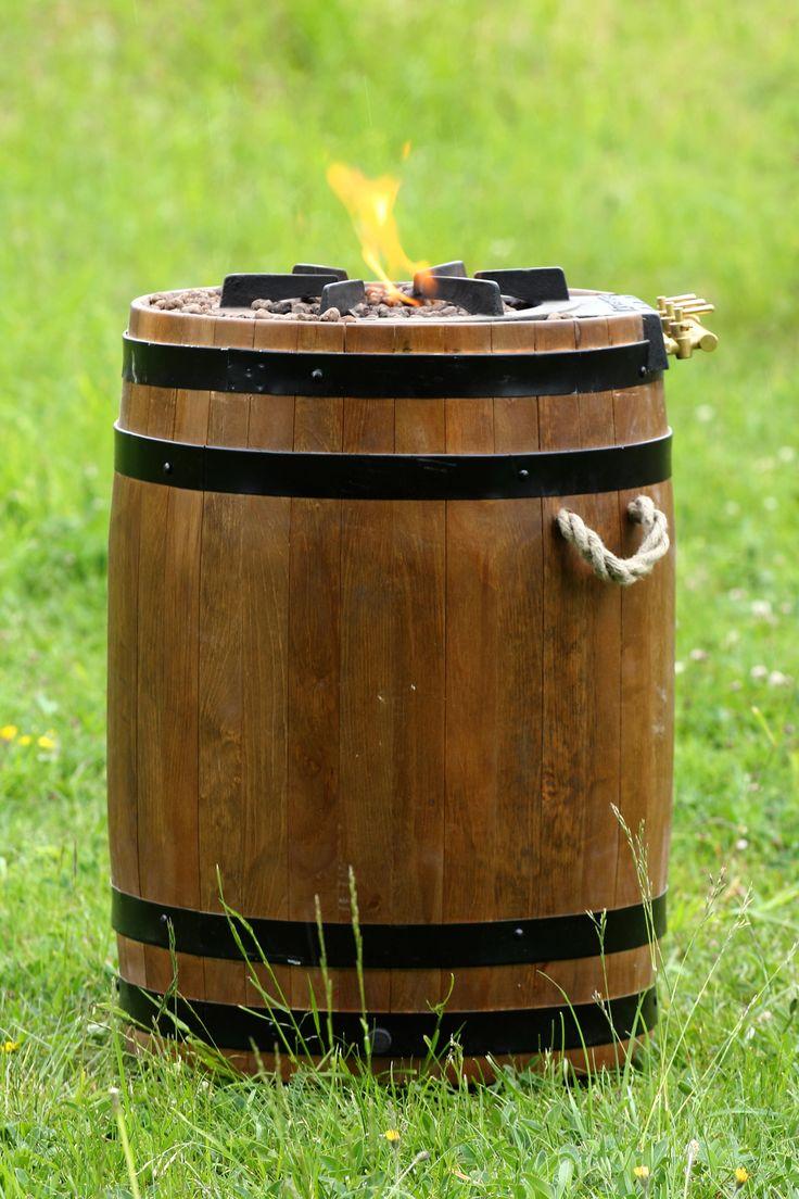 Feu d'extérieur au gaz, barbecue, déco, chauffage