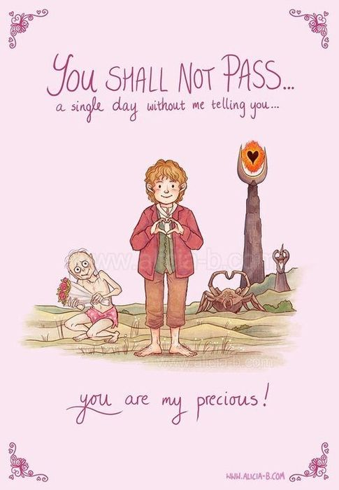 :'D why the heck is gollum wearing a pink loin cloth with hearts on it