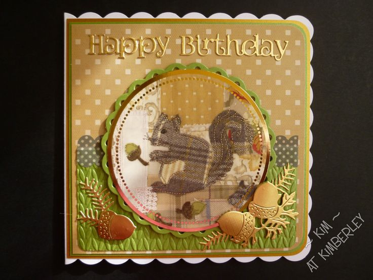 Birthday card using Tweedies image from Crafters Companion