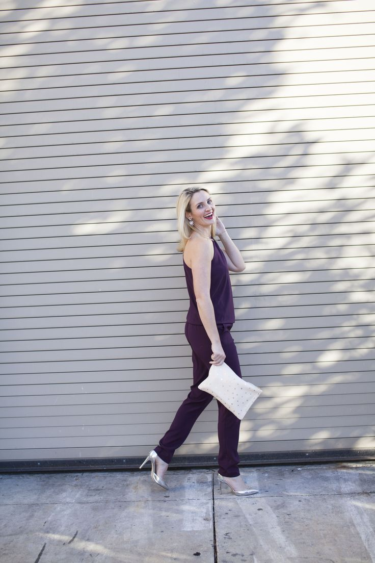 How to wear the pantone color of the year: marsala? This jumpsuit ! Get all of the details on the blog!