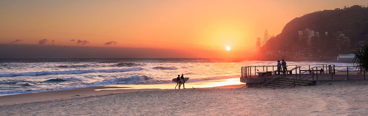 Surrounded by headland, ocean and national park Burleigh Heads is a protected haven
