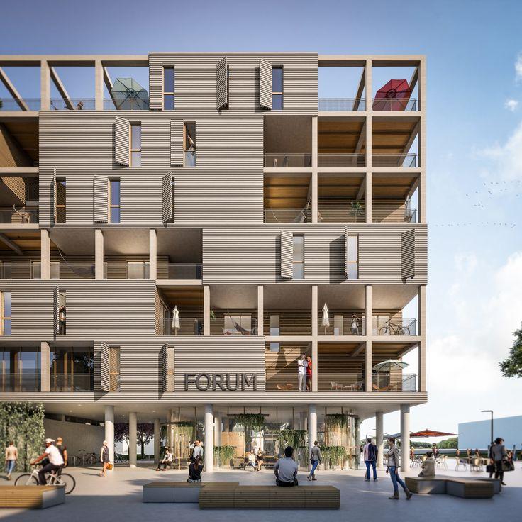 Experimentelle Modulbauweise am Rande Wiens – heri+salli planen Stadthaus in der Seestadt Aspern
