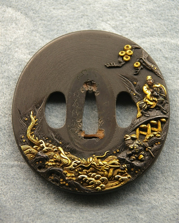 Japanese sword guard -tsuba-, made in Edp era, 17th century, Japan
