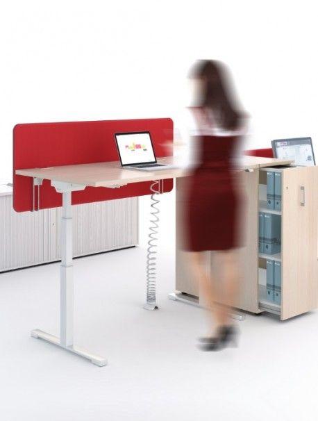 Bureau assis debout réglable en hauteur électriquement DRIVE, gamme complète proposant un large choix d'accessoires, coloris à personnaliser selon vos envies