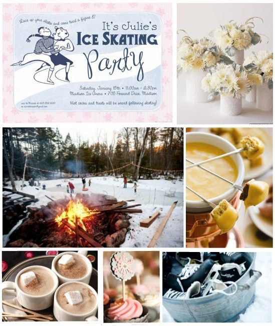 ice skating party...this blogger has some great ideas!