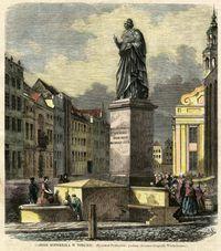 Pomnik Mikołaja Kopernika w Toruniu - Podbielski, B. (fl. w 2. poł. 19 w.)