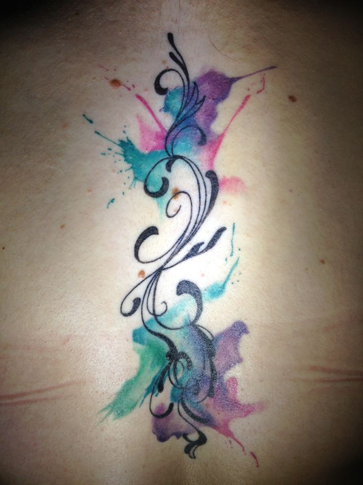 Watercolor tattoo I want one of these in the worst way