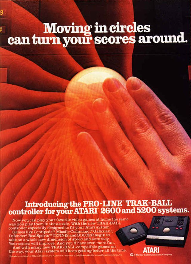 Pro-Line Trak-Ball from Atari vintage everyday: Old Video Game Ads from the Late 1970s Through the 1980s