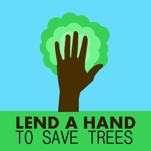 Save trees slogan, cool environmental poster.