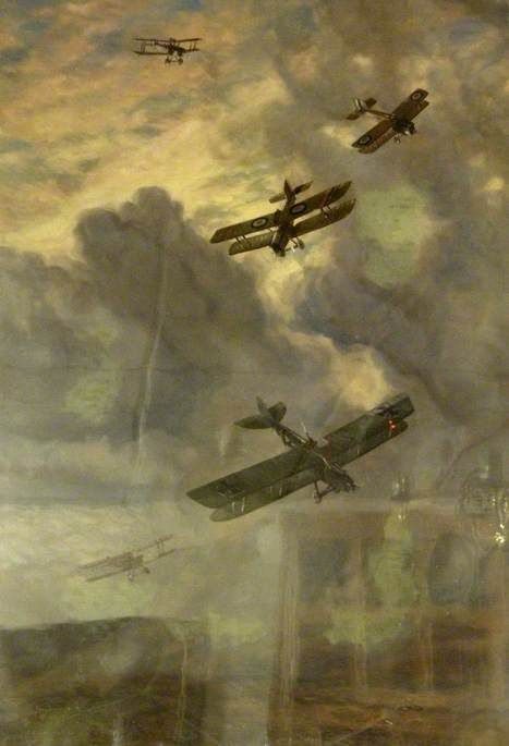 Putting Out His Eyes: Tactics in Aerial Warfare by George Horace Davis, painted 1919.