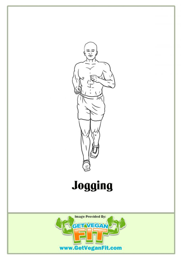 Jogging Heart Pumping Cardio Exercise Illustration