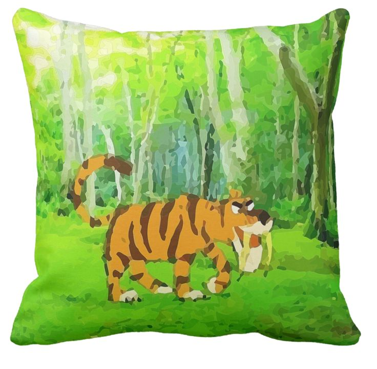 This tiger sure looks fierce, he could do some serious damage with those long fangs of his. I wonder what he stalking, he looks hungry. I thought this would make a colourful addition to the kids decor. It has a whiff of humour about it.