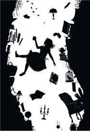 Resultado de imagen para alto contraste blanco negro alicia en el pais de las maravillas dibujo