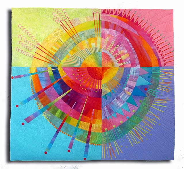 Radiant Orb Art Quilt
