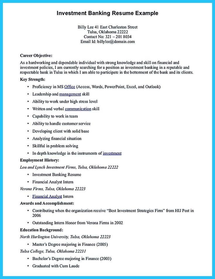 25+ unique Good resume objectives ideas on Pinterest Graduation - finance resume objective
