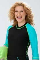 # Chlorine Proof Rash Guard Swim Shirt for Women Women's Vests #2dayslook #fashion #Vests www.2dayslook.com