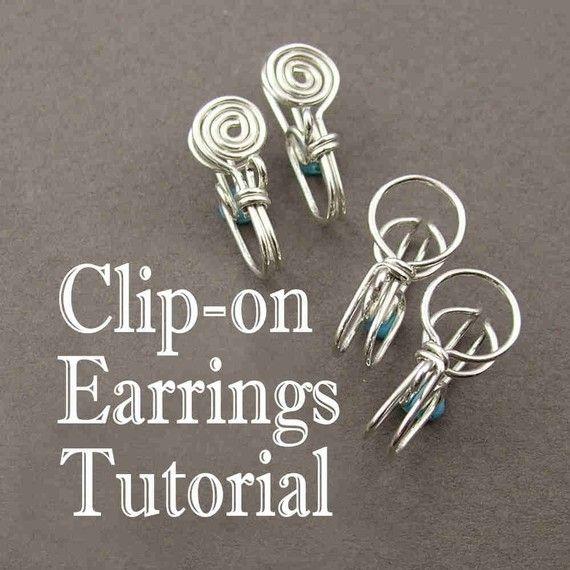 Tutorial  Clipon Earrings by DianneKargBaron on Etsy, $8.00