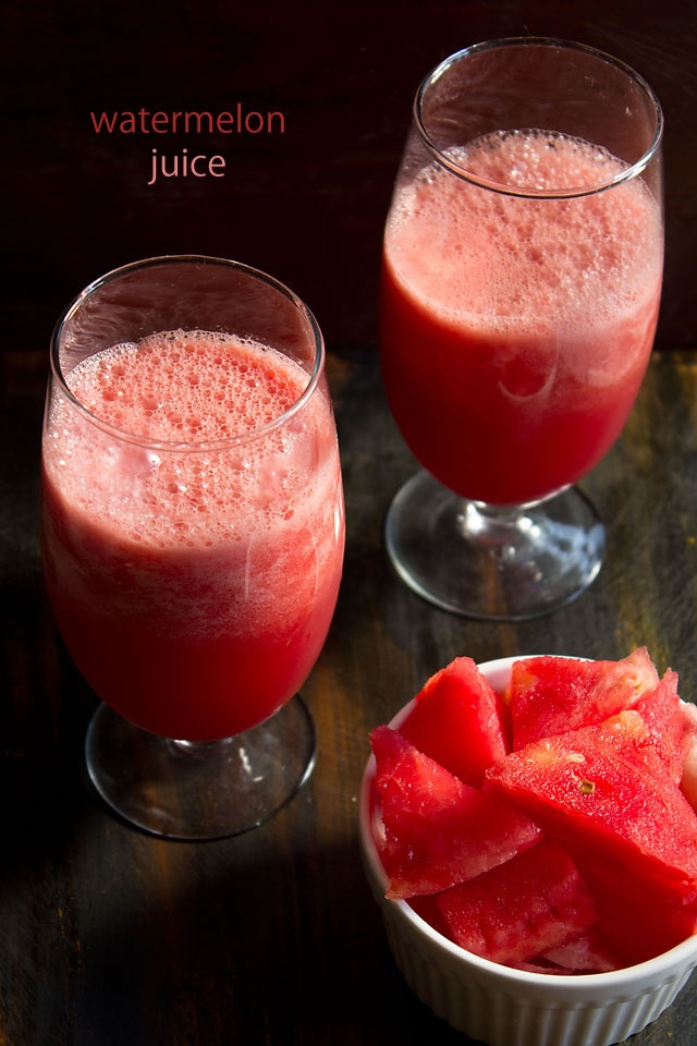 fresh watermelon juice - a cooling drink for the summer