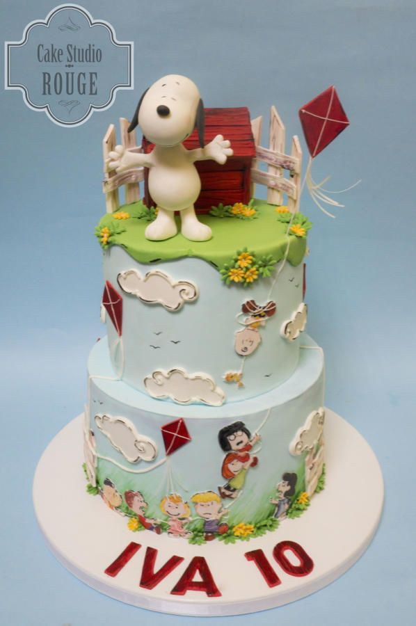 41 best SNOOPY Fondant Cake images on Pinterest Snoopy cake