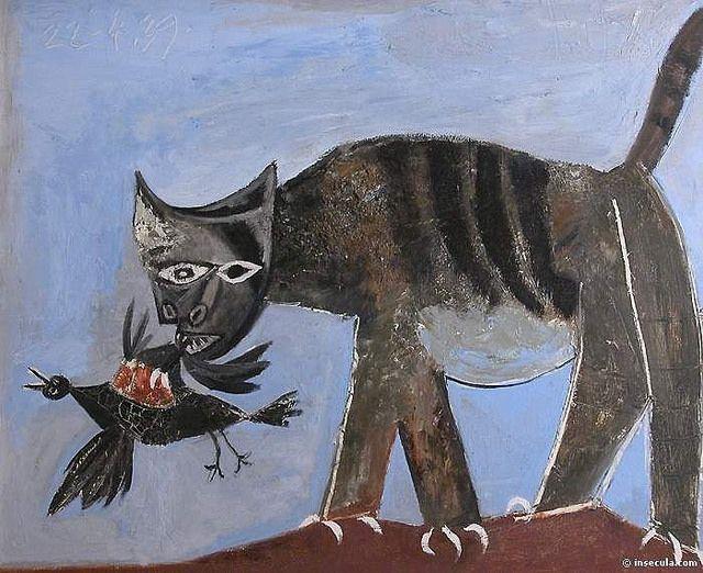 Pablo Picasso - 1939 Le chat saisissant un oiseau by iPad Mimi, via Flickr